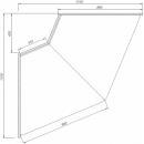 C-1 NW 45 BLN BELLISSIMA - Semleges belső sarokpult (45°)