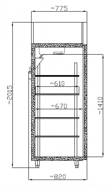 Dulap frigorific SCH 700 GN