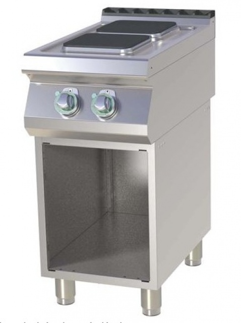 SPQ-740 E - Electric range quadratic plates with base