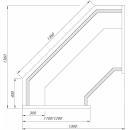 Vitrină frigorifică de colţ interior Europa L-1 ER NW/110