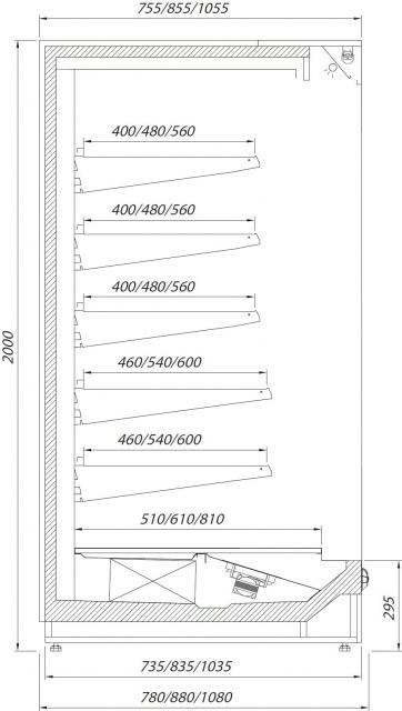 Raft frigorific cu agregat extern R-1 PR 130/110