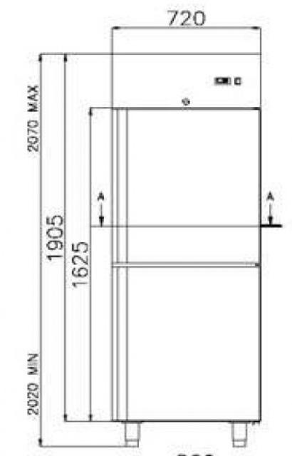 Dulap frigorific dublu COMBI CC700 INOX