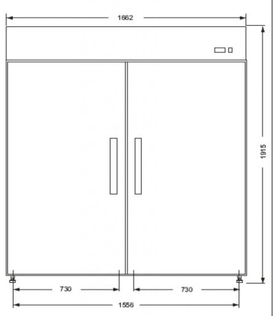Dulap frigorific dublu ECO C1400