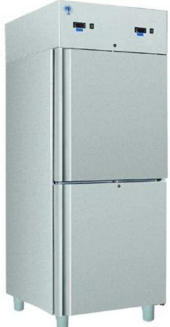 COMBI CC700 INOX Solid door INOX cooler with double cooling space