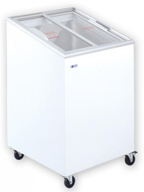 UDD 100 SCEG Chest freezer with slanting sliding glass door