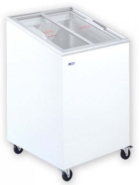 UDD 100 SCEG Mélyhűtőláda ferde, csúszó üvegtetővel
