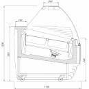 Vitrină frigorifică pentru îngheţată geam telescopic K-1 BT 12/TL BISCOTTI