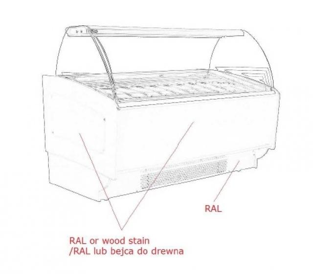Vitrină frigorifică pentru îngheţată K-1 SR 16 SORBETTI