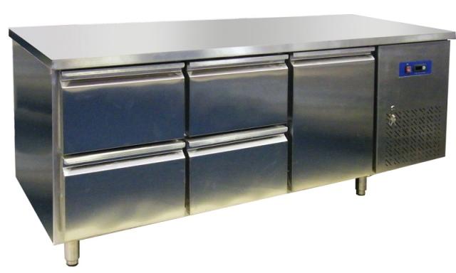 EPF 3432-4 - Hűtött munkaasztal 1 ajtóval és 4 fiókkal