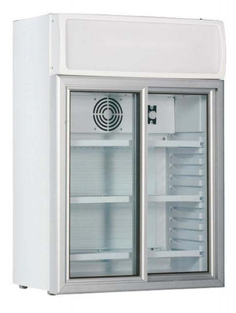 Vitrină frigorifică verticală cu uşă cu geam glisant USS 100 DSCL