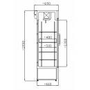 SCH 402 INOX - Rozsdamentes hűtővitrin