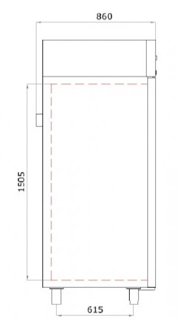 Vitrină frigorifică verticală GASTRO C 500 INOX