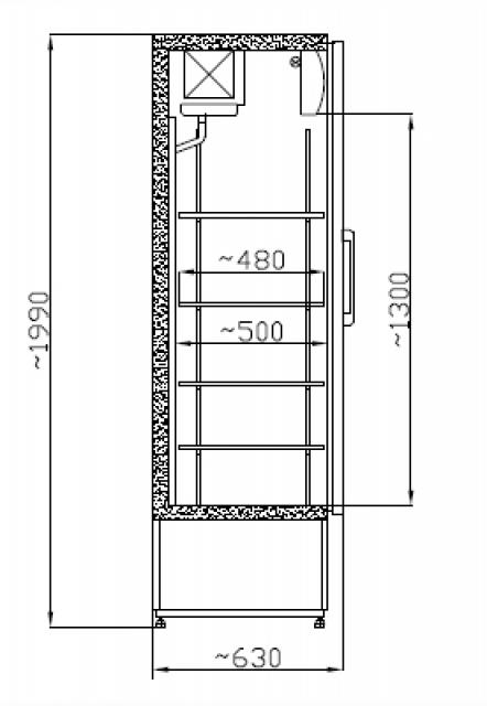 Vitrină frigorifică verticală SCH 601 INOX