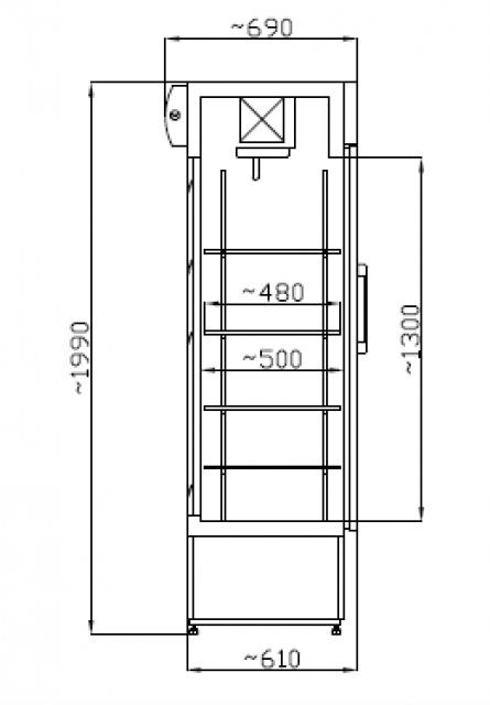 Vitrină frigorifică verticală SCH 602 INOX