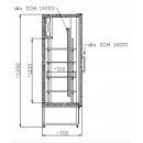 Vitrină frigorifică verticală dublă CC 1600 GD INOX (SCH 1400 S)