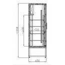 Vitrină frigorifică verticală cu uşi glisante SCH 1400 R INOX