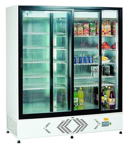 Vitrină frigorifică verticală cu uşi glisante ECO+C1400