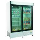 ECO+C1200 - Csúszó üvegajtós, felépítményes hűtővitrin