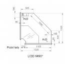 LCD D NW SELF Dorado |Vitrină frigorifică de colț interior 90°