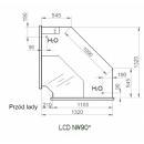 LCD Dorado D NW - Belső sarokpult 90°
