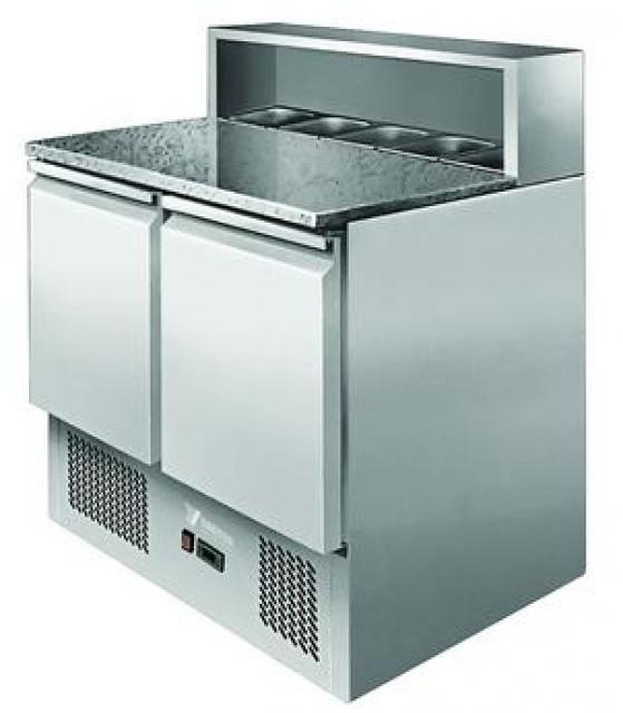 ESL3831 - Pizzaelőkészítő asztal (saláta hűtőbetéttel)