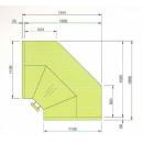 LCT Tucana 01 REM INT90 | Vitrină frigorifică de colț interior cu agregat extern