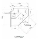 LCD NZ D Dorado | Vitrină frigorifică de colţ exterior 90°