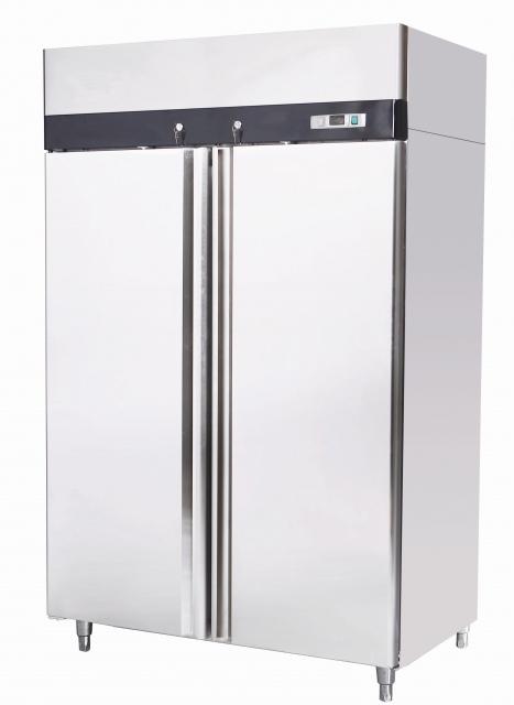 MBF8114 INOX freezer with double door