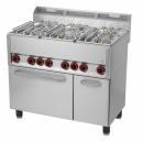 SPT-90 GLS Maşină de gătit cu 6 arzătoare şi cuptor electric