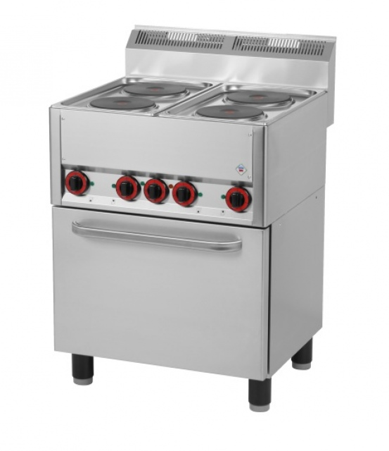 SPT-60 ELS - Electric range with 4 plates and oven