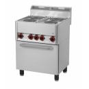Maşină de gătit electrică cu 4 plite şi cuptor electric | SPT 60 ELS