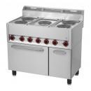 Maşină de gătit electrică cu 5 plite şi cuptor electric | SPT 90/5 ELS