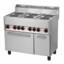 Maşină de gătit electrică cu 6 plite şi cuptor electric | SPT 90 ELS