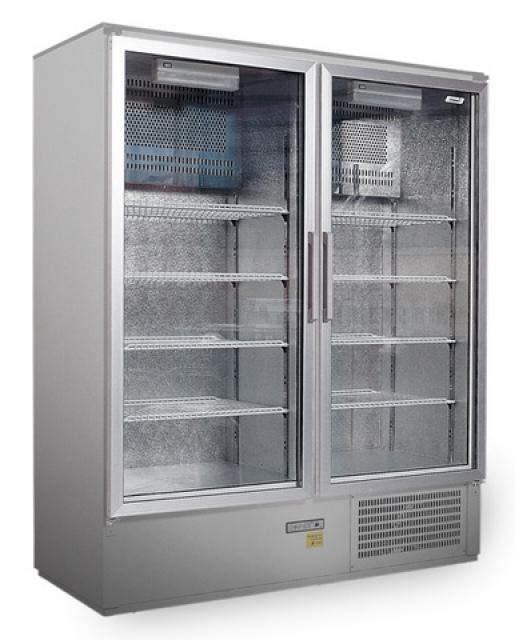 SCH 800/S INOX - Cooler with double glass doors