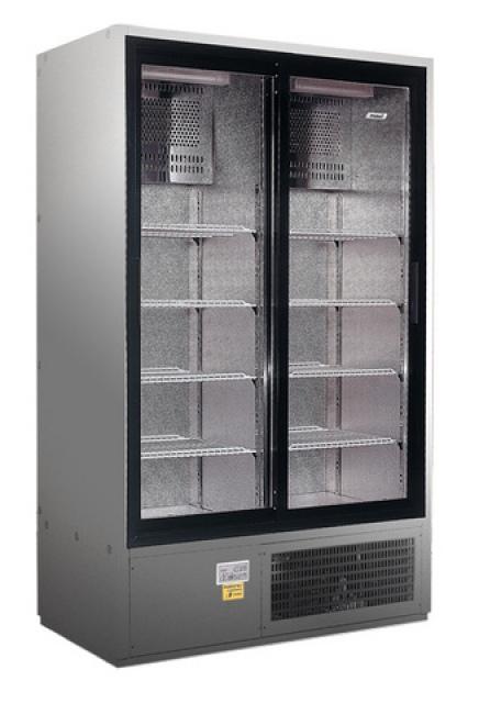 SCH 800 R INOX - Csúszó üvegajtós, rozsdamentes hűtővitrin