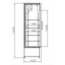 Vitrină frigorifică verticală SCH 401 INOX