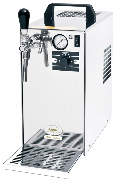 PYGMY 30/K Profi Dry contact one coiled beer cooler with built-in air compressor