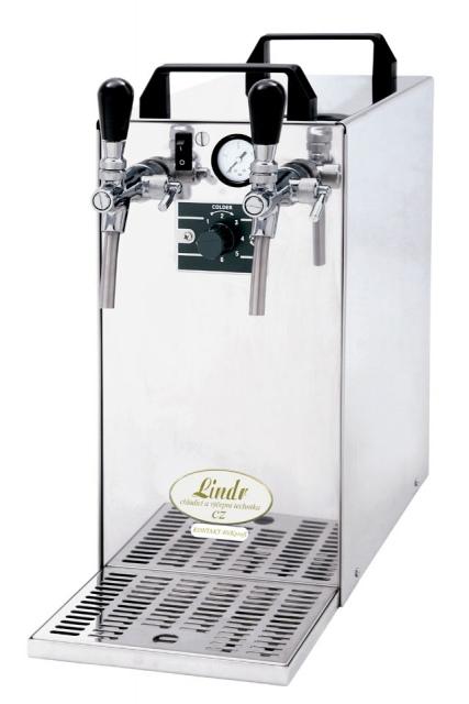 KONTAKT 40/K Profi - Száraz hűtésű, kétkörös sörhűtő beépített légkompresszorral