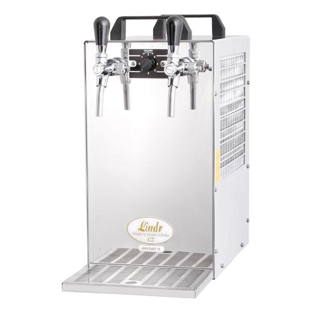 KONTAKT 70/K - Száraz hűtésű, kétkörös sörhűtő beépített légkompresszorral