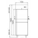 Dulap frigorific COMBI CF 700