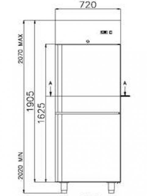 COMBI CF 700 INOX - Combined INOX chest cooler and freezer