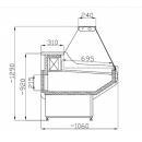 Vitrină frigorifică orizontală cu geam drept WCH 1,3/1,1