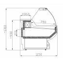 WCHSN 1,3/1,2 - Hajlított üvegű csemegepult