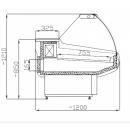 WCHIM 1,3/1,2 - Hajlított üvegű csemegepult (Market vonal)