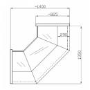 NCHW 1,3/0,8 Straight glass internal corner counter (90°)
