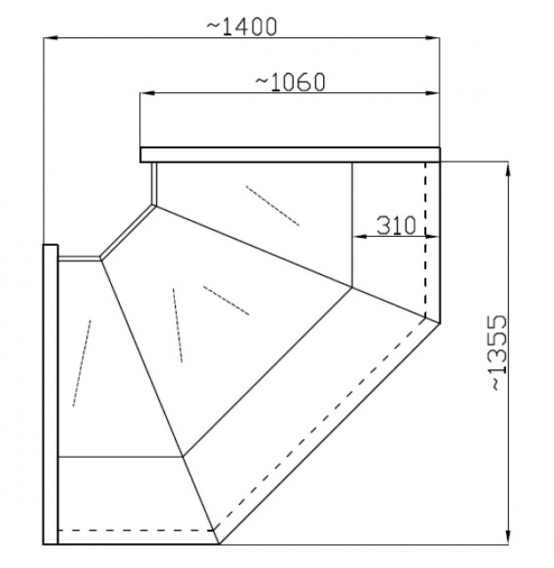 Element de colț interior (90°) NCHW 1,3/1,1