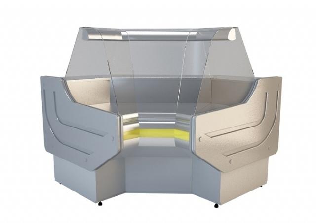 NCHGW 1,3/1,1 - Hajlított üvegű belső sarokpult (90°)