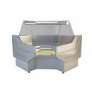 NCHGW 1,3/1,1 Curved glass internal corner counter (90°)