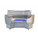 NCHGW 1,3/0,8 Curved glass internal corner counter (90°)