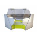 NCHSNW 1,4-1,2 Curved glass internal corner counter (90°)